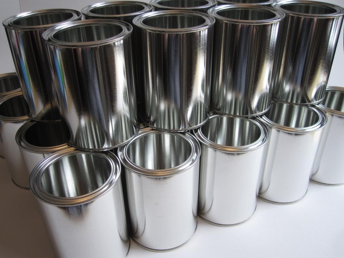 latas de metal